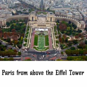 Paris from above the eiffel tower
